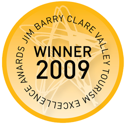 2009 Winner Deluxe Accommodation Jim Barry Clare Valley Tourism Awards